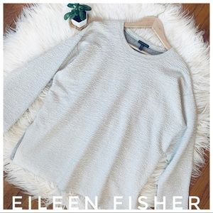 EILEEN FISHER Long Sleeve blouse top side split